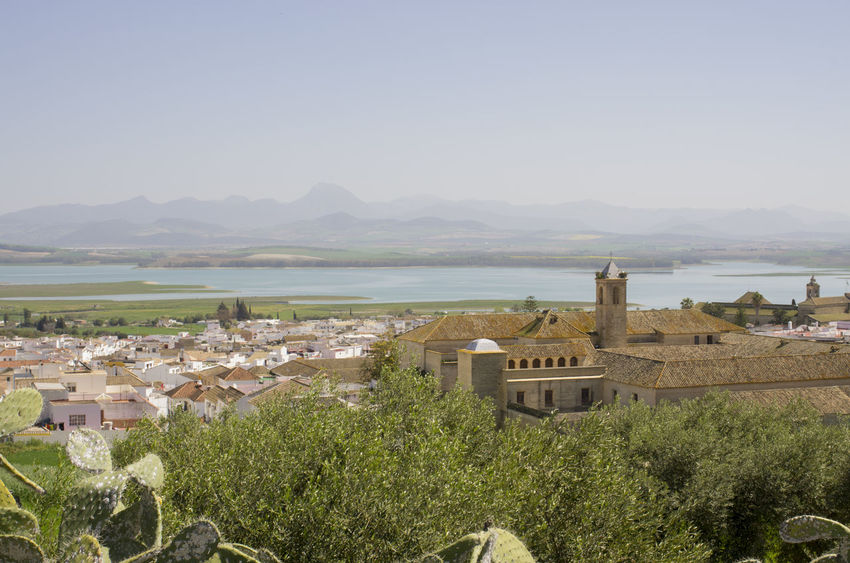 A distant place.... Spanish Town SPAIN Andalucía Cadiz Bornos Town Looking Over The Town In The Distance Lake Lake View Misty Day Old Spanish Buildings Old Spanish Church Cactus Olive Trees Courtyard  White Houses Moutains Pentax K-5 EyeEm Best Shots