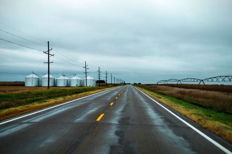 Photo Essay - A Day in the life. Western to Alexandria, Nebraska October 2016 A Day In The Life Agricultural Land America Camera Work Cloud - Sky Cloudy Country Road Countryside Day Diminishing Perspective Electricity Pylon Eye For Photography EyeEm Best Shots EyeEm Gallery Fujifilm Highway Outdoors Photo Essay Remote Road Rural America Small Town Stories The Way Forward Vanishing Point Visual Journal