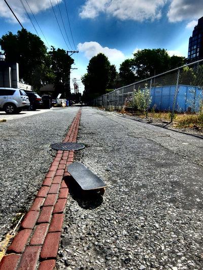 Brick Wall City Skateboarding All Architecture Cloud - Sky Concrete Overcooked Road Skateboard Sky The Way Forward Transportation Urban