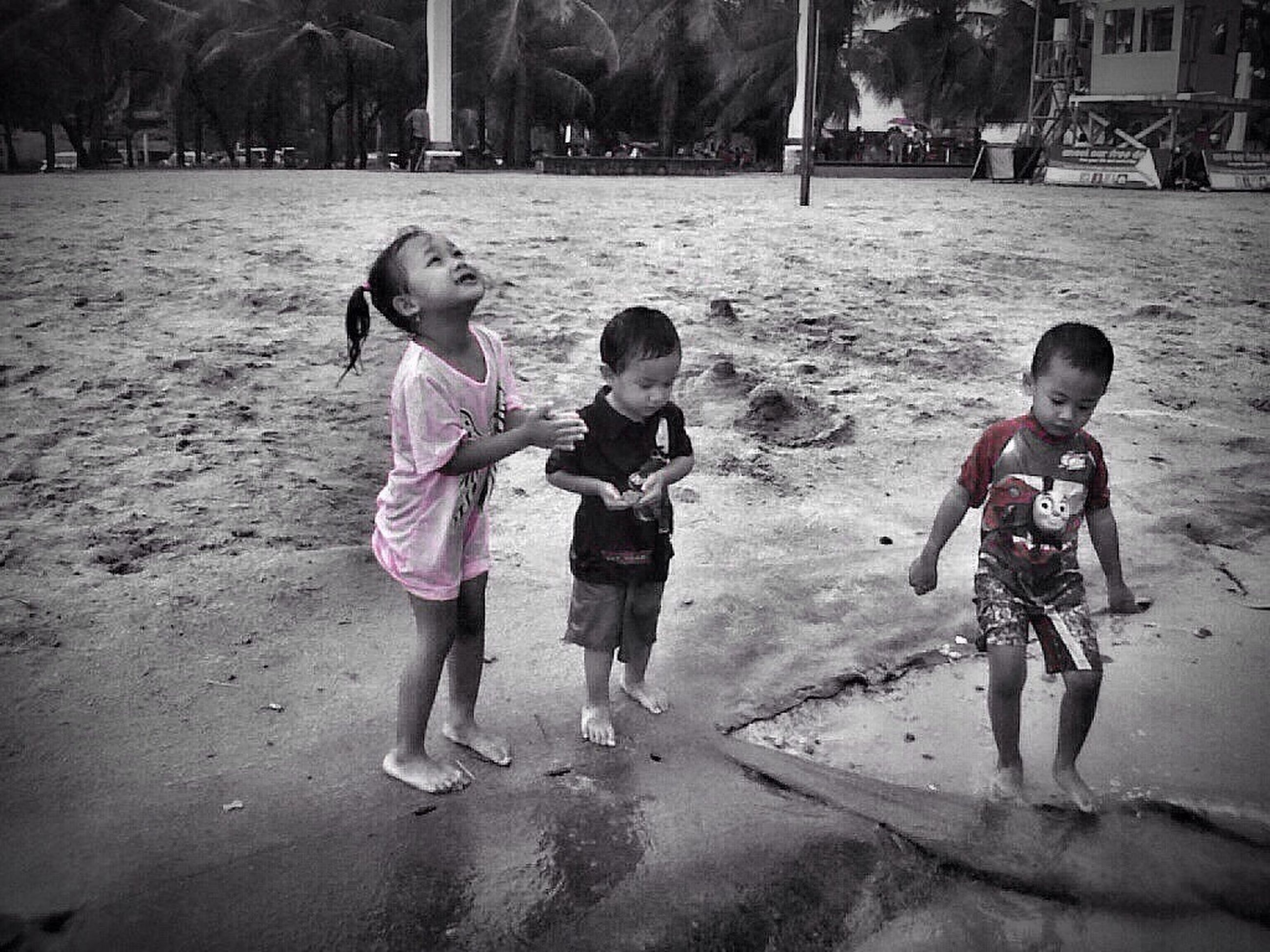 child, childhood, girls, playing, children only, full length, happiness, outdoors, people, water, day