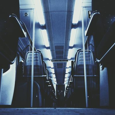 Do you guys not think empty trains are spooky? ? #whileinbetween