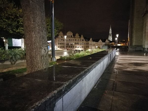Visit With Me Brussels By Night No Edit/no Filter Street Light Urban Exploration Same Place Different Perspective Stone Wall View From The Ground Architecture Night No People Tree Outdoors Sky Illuminated EyeEm EyeEm Gallery Architectural Detail Architecture_collection Historical City