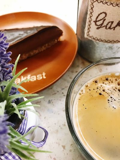 Coffee Food And Drink Food Still Life Text Sweet Food High Angle View No People Indoors  Freshness Table Sweet Dessert Close-up Drink Baked Ready-to-eat