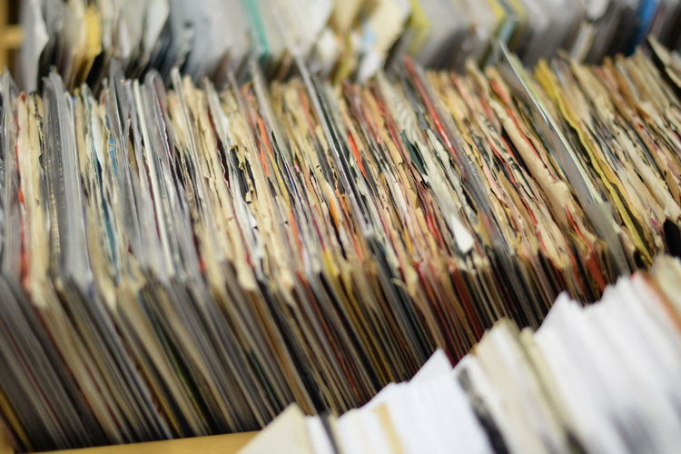 Archives Abundance Arrangement Close-up Day Detail Focus On Foreground In A Row Large Group Of Objects Records Repetition Selective Focus Side By Side Still Life Surface Level Vinyl Vinyl Records