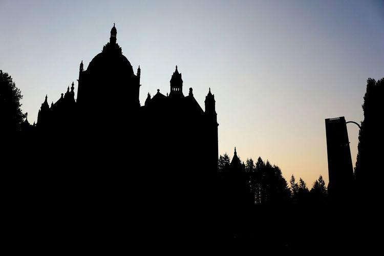 Morning silhouettes Silhouette Religion Pagoda Architecture Travel Destinations Old Ruin Spirituality