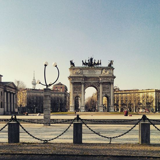 Milan Milano Arco Della Pace Parco Sempione Monument