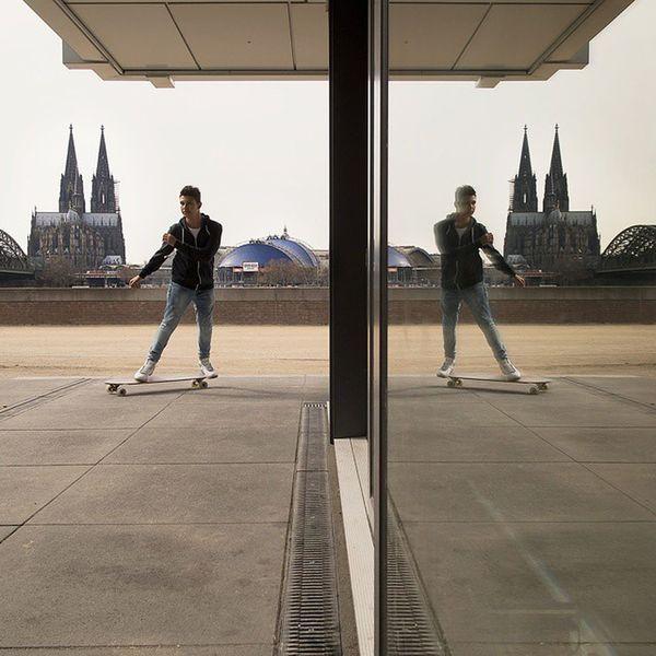 Heute in Koeln Köln Cologne Kölnerdom im doppelpack mit skater Thatchurchagain Symmetricalmonsters