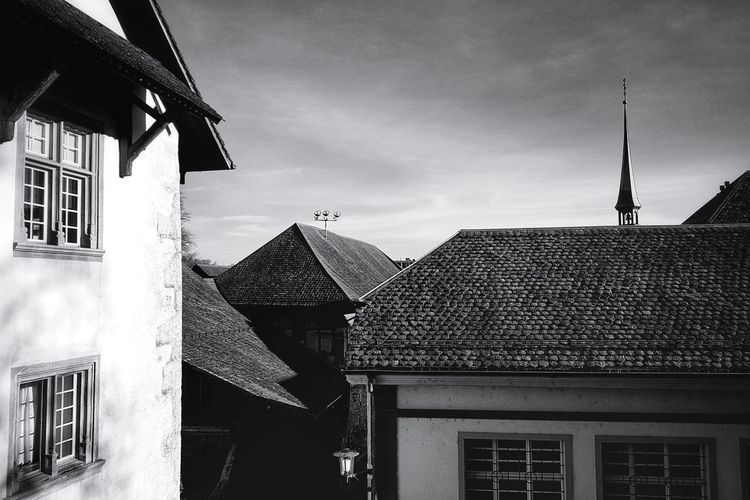 Old Town Solothurn Church Tower Architecture Architecture_collection Black And White Blackandwhite Monochrome EyeEm Best Shots EyeEm Best Shots - Black + White EyeEm Gallery Taking Photos Light And Shadow Switzerland Travel Destinations Architecture Building Exterior Built Structure Roof Tile Roof Housing Settlement TOWNSCAPE Town Rooftop Historic Architectural Feature Human Settlement Tiled Roof