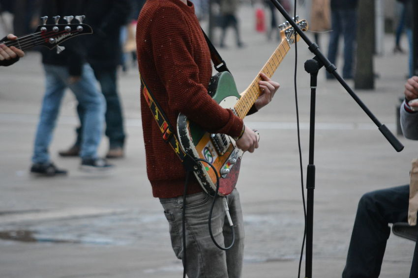 Adults Only Allmyphotography Arts Culture And Entertainment EyeEm Gallery Guitar Guitarist It,s Not About The Music, It,s About The Photo Music Nikonphotography Nofilternoedit Outdoors Standing Street Musician The Street Photographer - 2017 EyeEm Awards Adventures In The City