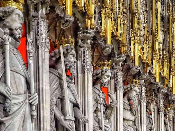 York Minster detail. Statue Sculpture Church Rood Screen