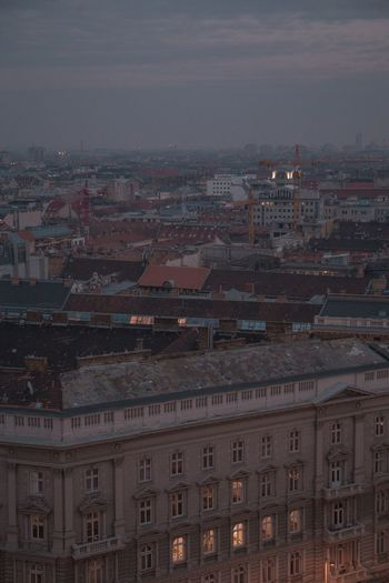 view from szent istván bazilika Cityscape Dusk In The City City View  Moody Budapest Architecture Building Exterior City Built Structure Sky Cityscape Nature Building No People Outdoors Illuminated City Life Dusk Urban Skyline