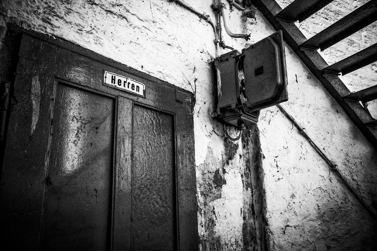Blackandwhite Communication Day Klo Lostplaces No People Old Text Toilet