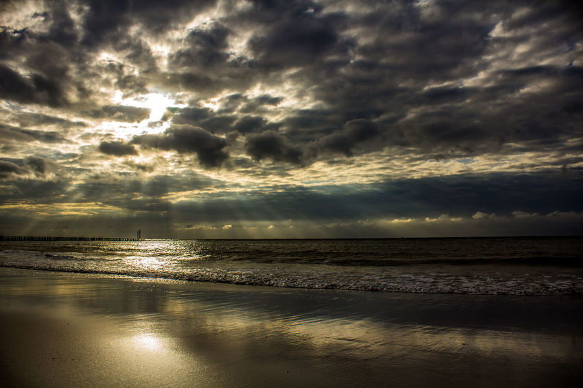 Sea Sunset Beach Dramatic Sky Reflection Cloud - Sky Horizon Over Water Nature Scenics Landscape Vacations Beauty Sun Sky Summer Water Beauty In Nature Tranquil Scene Tranquility Sunlight EyeEm Selects 3XSPUnity