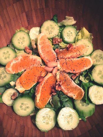 Salad Food Healthy Eating Healthy Green Salad Yummy Orange Lettuce Vegan Raw Vegan