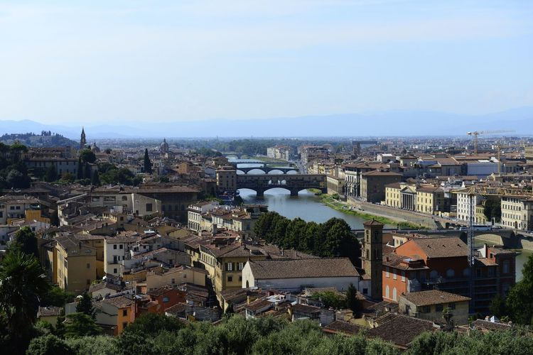 Florence Italy Arno  Arno River City Firenze Florance OverviewPoint Piazzale Michelangelo Skyline Tourist Attraction  Florence Italy Overview Piazzalemichelangelo Tourism Tourist Destination