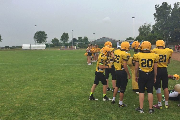 …and Frankfurt Pirates (Youth) getting ready! American Football