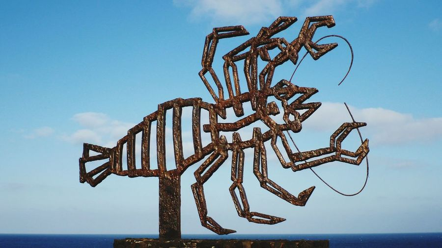 Nature Outdoors No People Beach Sky Day Iron Sculpture Crab Iron Crab Manrique Lanzarote