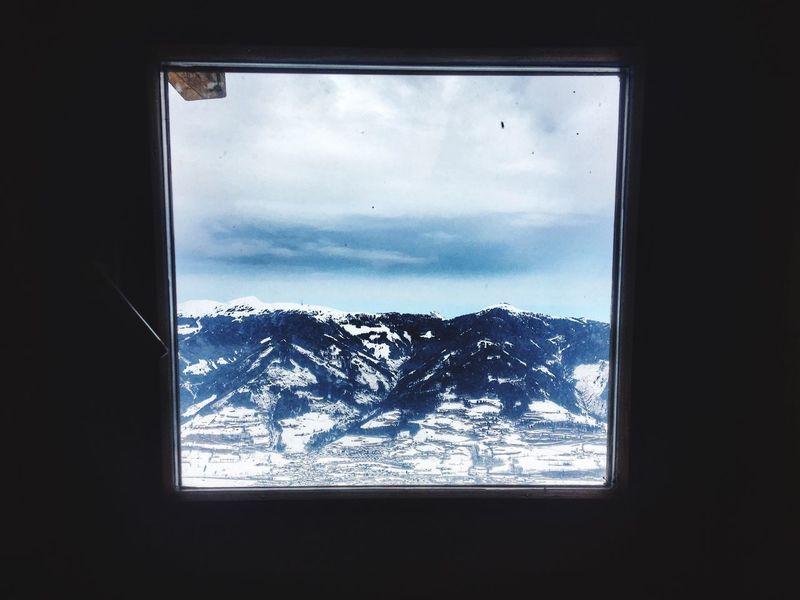 -- window to the world -- Window Mountain Snow Winter Weather Sky Nature Indoors  Day Cold Temperature No People Cloud - Sky Beauty In Nature Scenics Mountain Range Landscape Tree Close-up Alpen Style Alpenpanorama Kaprun, Austria Maiskogel Alpen Alps Austria Landschaft