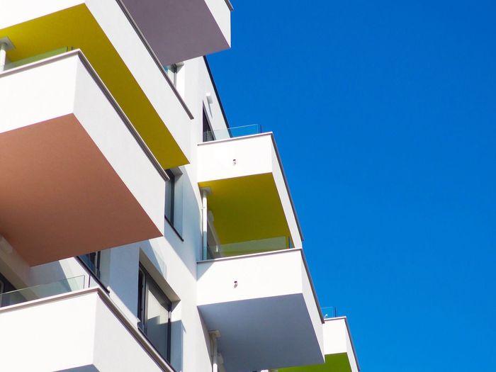 Architecture Balcony Seestadt Aspern Vienna Olympus OM-D E-M5 Mk.II Panasonic Leica Summilux 25mm F1:1,4 House Apartments Building Exterior Buildings & Sky Sky Building