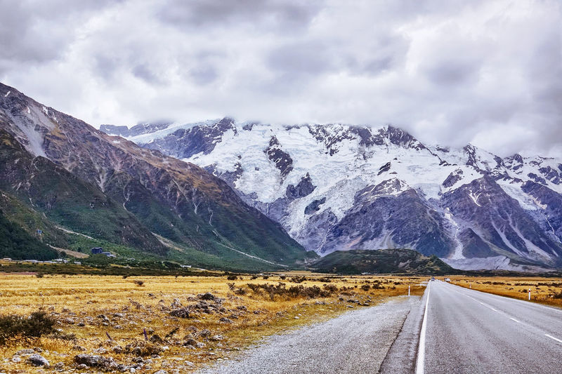 Driving to mt. cook