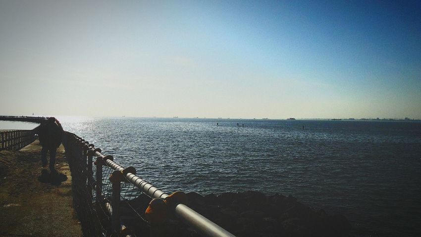 Sea Railing Horizon Over Water Water Outdoors Day Nature Sky No People