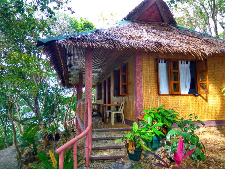 Our Villa.. Vacation mode on 😊 Building Exterior Architecture Built Structure Tree Plant No People Outdoors House Day Nature Sky Bamboo Nipa Hut Accommodation Eyeem Philippines