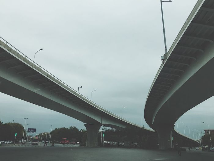 Connection Transportation Bridge - Man Made Structure Architecture Engineering Built Structure Highway Car Outdoors Road Day City No People Sky