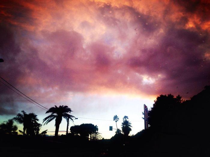 Niente di meglio di un tramonto colorato