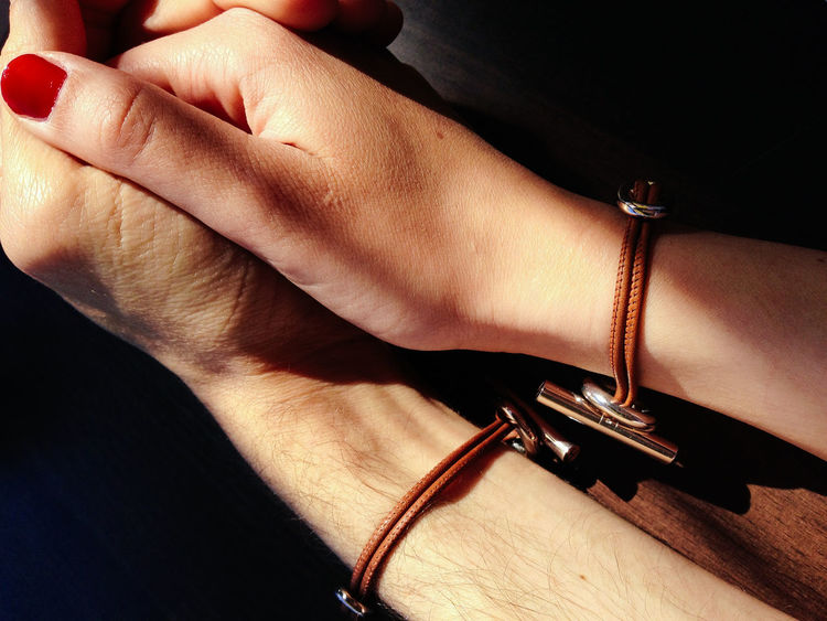 Love Adult Bracelet Close-up Connection Day Handhold Handholding Human Hand Indoors  People Real People Two Hands Two People