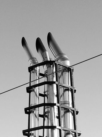 Ship part Maritime Ship Part No People No Edit Blackandwhite Black And White Exhauster Pipe Ship Exhaust Pipes Technology Industry Science Business Finance And Industry Steel Sky Pipe - Tube