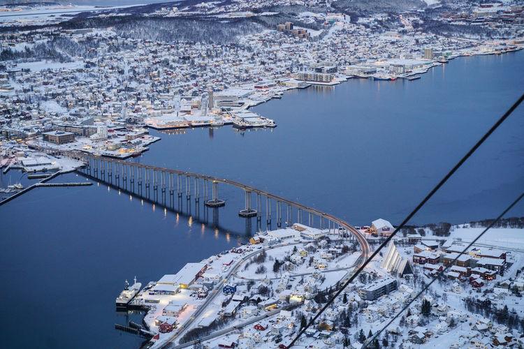 Harbour Norway Tromsø Tromsøya Winter Fjord Scenics Snow