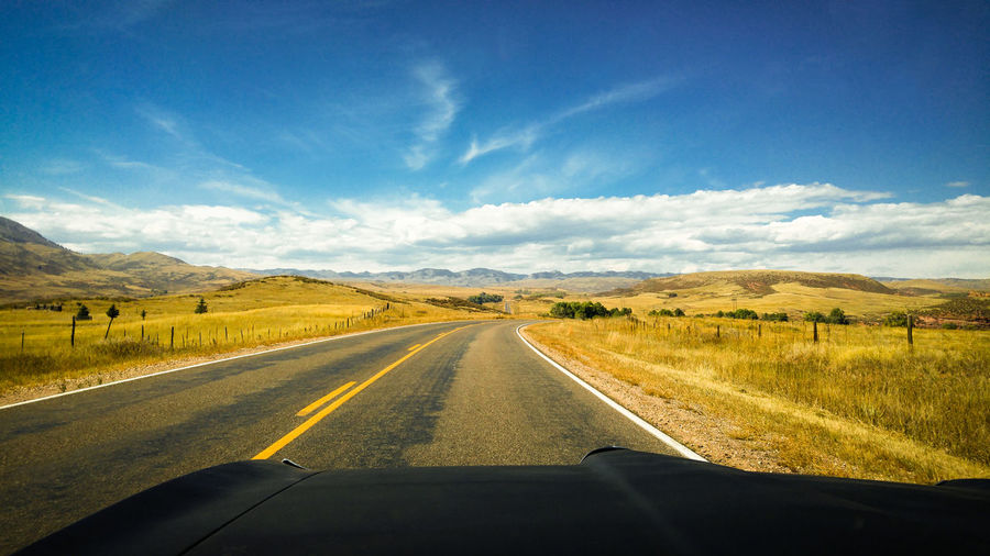 Driving lonely country roads in northern colorado