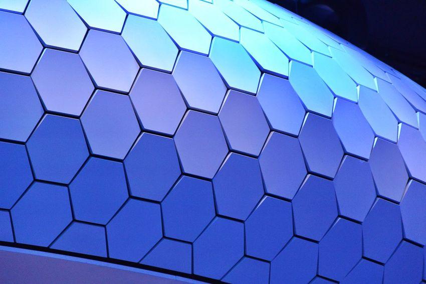Aluminium Close-up Geometric Shape Indoors  Paris International Motor Show 2016 Pattern Renault Stand Renault