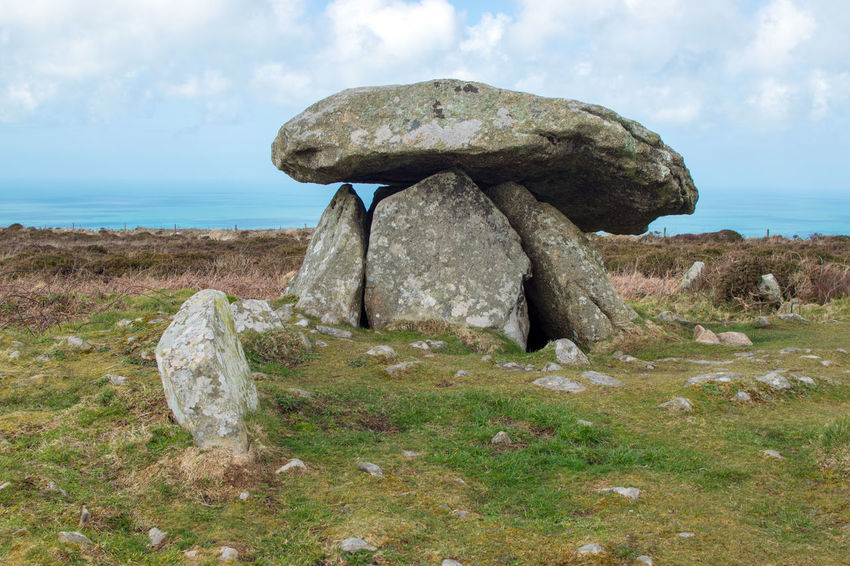 Chun Quoit, Ancient Burial Chamber near Pendeen, Cornwall UK Pendeen Ancient Site Bronze Age Burial Chamber Chun Quoit Cloud - Sky Cornwall Cornwall Uk Day Dolmen Iron Age Land Nature Neolithic Neolithic Stones No People Outdoors Rock Rock - Object Sky Solid