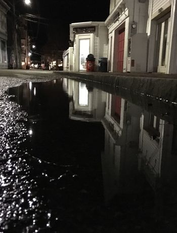 Architecture Built Structure Building Exterior Night Water Puddle Outdoors