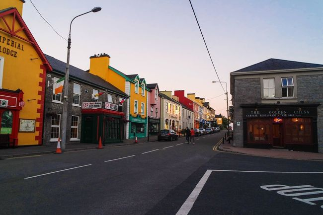 City of Love Colourful Sunset Little Town Lisdoonvarna Architecture Building Exterior Built Structure Sky Sign Street