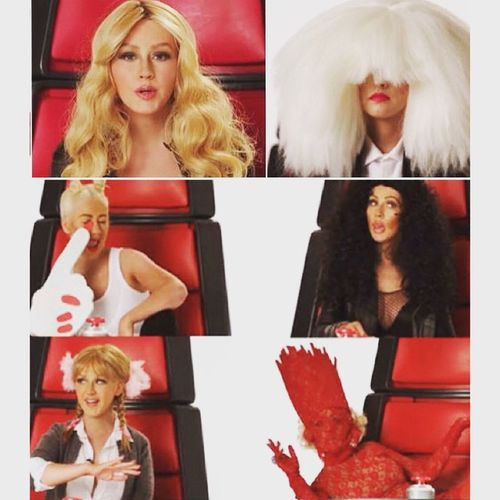 Christina Aguilera doing a Shakira, Sia, Miley Cyrus, Britney Spears and Lady Gaga impression... Way to funny! So love her! Teamxtina ❤️