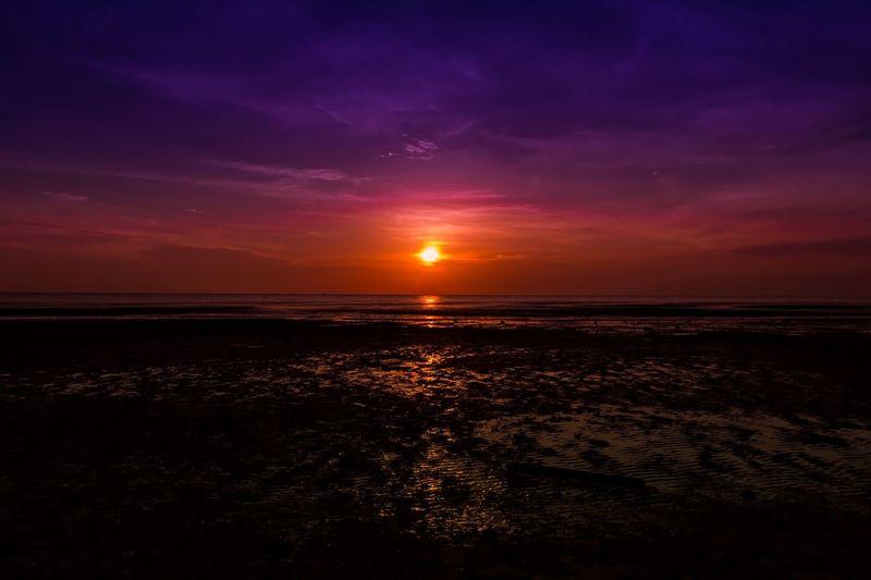 Sunset in Morib