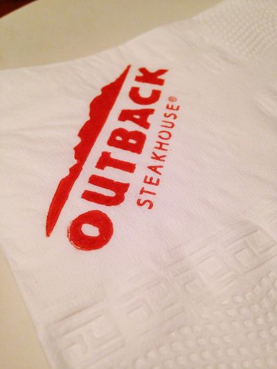 Dinner Eating Outback ❤️