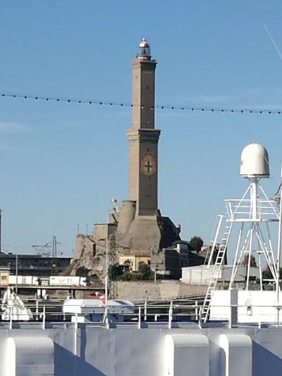 Ship Boat Deck Sky LA LANTERNA Di Genova