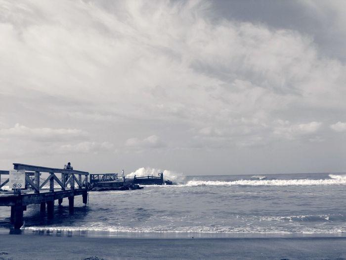 Taking Photos Lifestyle Fujifilm Lifeisabeach Summer Beachphotography Waves Crashing Bridge Sea Mare
