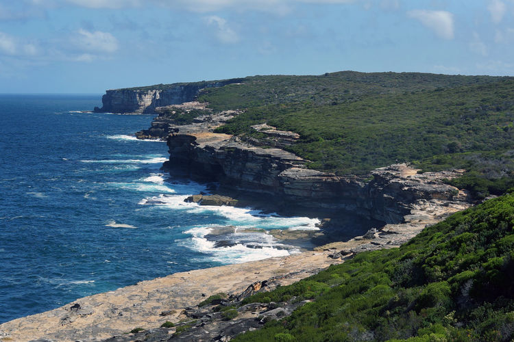 Trekking nature love National Park Trekking Nature Love Beauty In Nature Bundeena Cliff Day Horizon Over Water Mountain Nature No People Outdoors Rock - Object Scenics Sea Sky Tourism Tranquil Scene Tranquility Travel Destinations Water An Eye For Travel