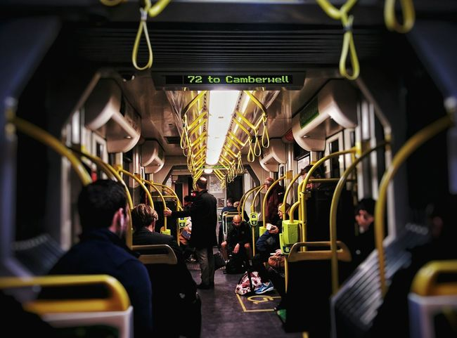 🚋🚋🚋Travel Adults Only People Hanging Taking Photos Check This Out Helloworld Open Edit Tram From My Point Of View Symmetry Public Transport Melbourne Public Transportation After Work Nightphotography Inside A Train Busy Busylife Lifestyle Transportation Neon Life