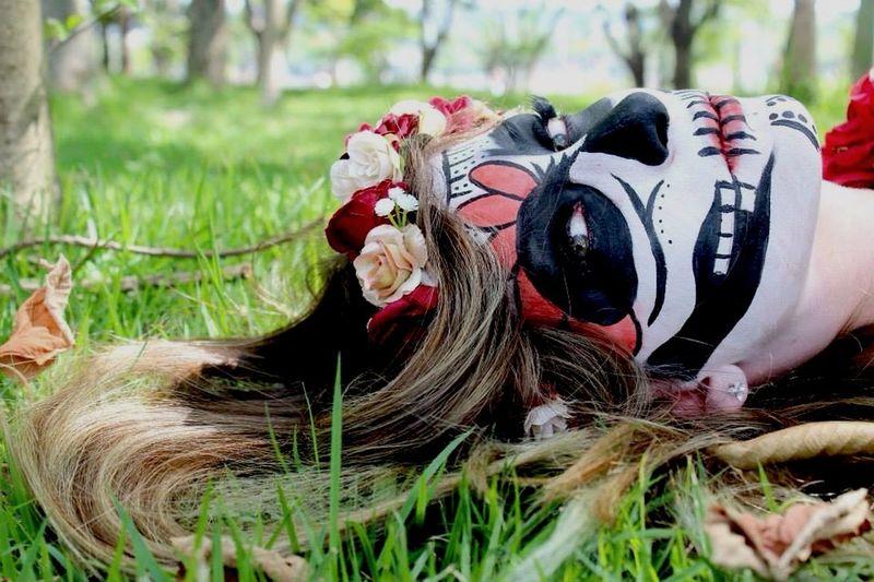 A lá Catarina Hello World Felimemakeup Makeupartist Maquillage Makeup Caveiramexicana Catrina Mexico Vivalosmuertos Santamuerte