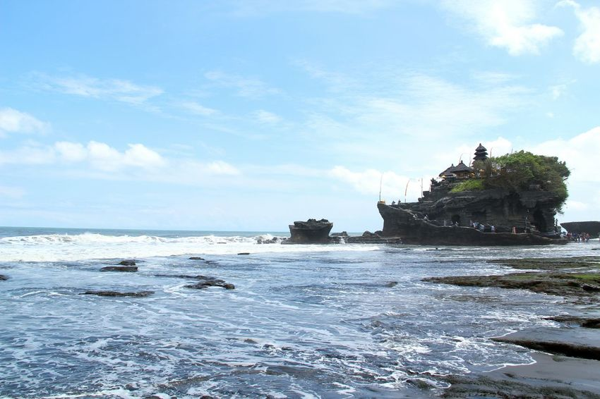 Sea Beach Scenics Travel Destinations Tanah Lot Bali INDONESIA