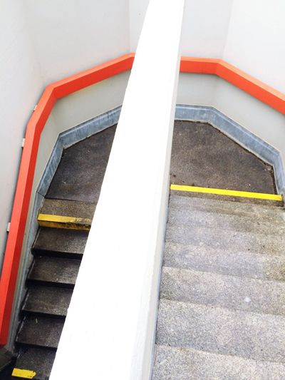 IPhoneography Look Graphic Building Built Structure Step By Step Go Down Go Away Stairs Target Symbol Part Of No People