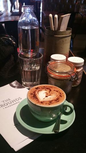 Does coffee and business mix...yessssss 😉 Checkout my website at... http://anastasiaverkos.com Coffee Time Sydneylocal Thegroundsofalexandria Mustsee Amazing Place Lovethisplace Nice Day It's Business Time Glassofwater Sugar