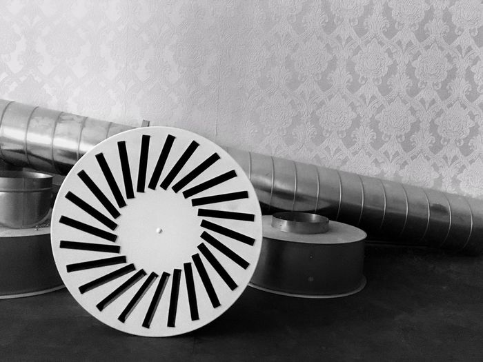 Not used anymore. Mess Airconditioning Leftbehind No People Prague Wall Round Objects Steel Wallpaper Czech Czech Republic Minimalism Bnw Monochrome Black And White IPhoneography