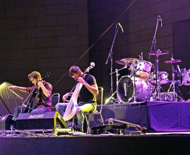 2Cellos Festival Internavional de Santa Lucia 2015. Awesome show last night. 2cellos In Concert 2cellos Amazing Concert Music Live Music Rock Classicmusic Festival Hanging Out Fortheloveofmusic