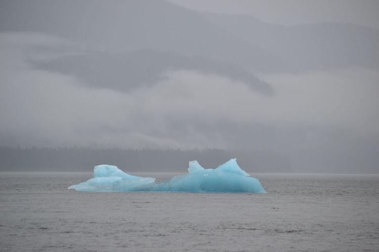 Alaska Blue Ice Gray Sky Iceburgjunkies Landscape